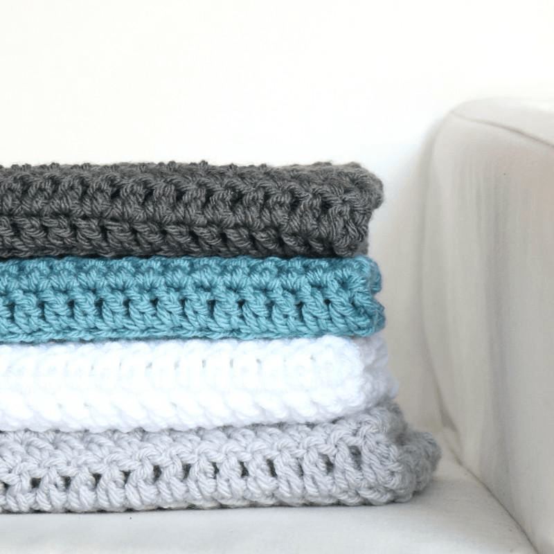 Block Stripe Blanket Pattern Bella Coco Crochet