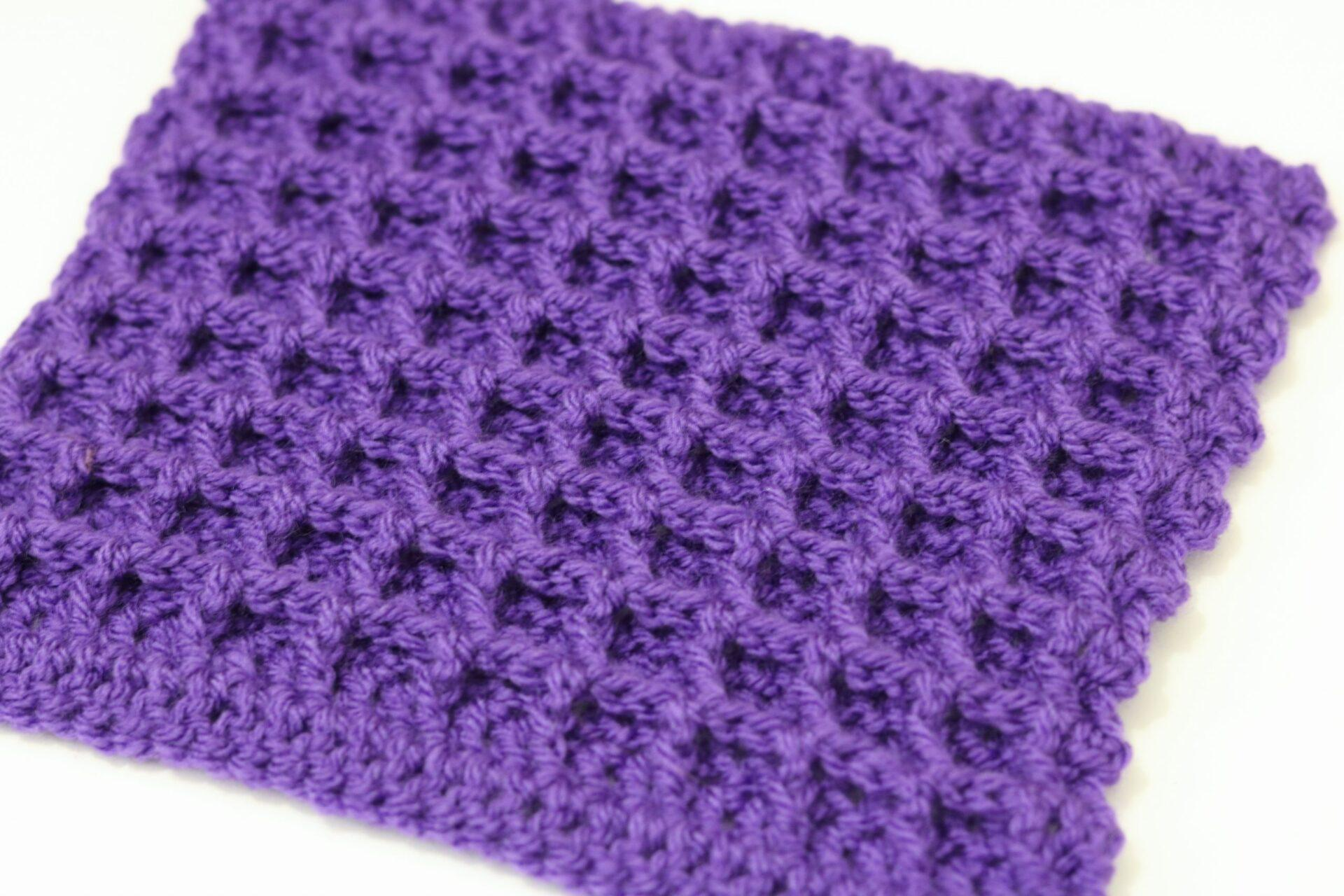 Learn To Crochet The Waffle Stitch